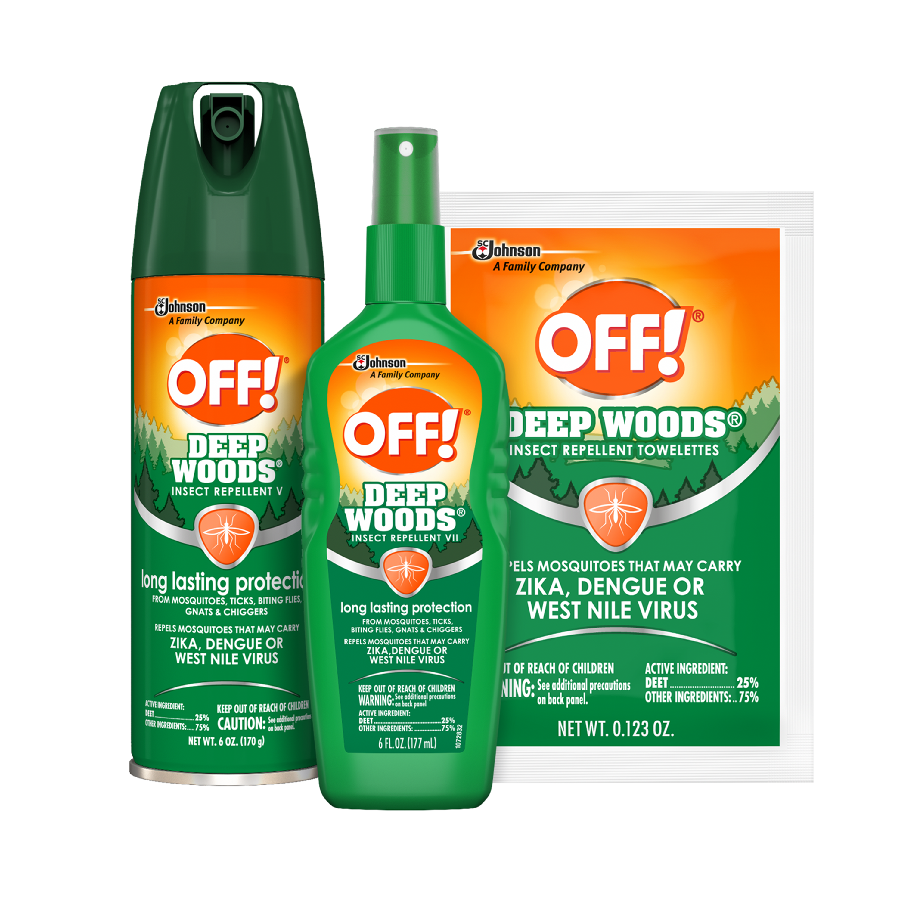 OFF! Deep Woods® Insect Repellents | SC Johnson Professional™