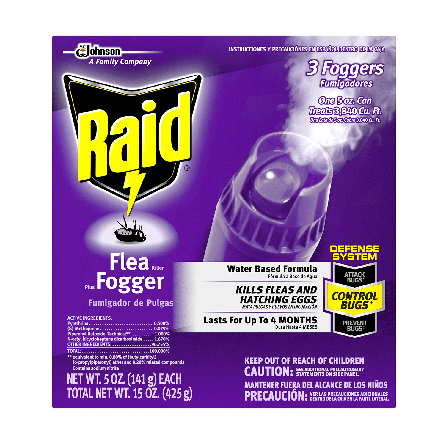 raid-flea-killer-plus-fogger-3pack-643413